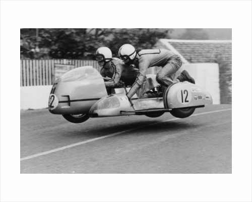 Sidecar TT race, Isle of Man, 1970 by Unknown