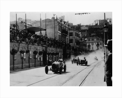 Start of the inaugural Monaco Grand Prix by Anonymous