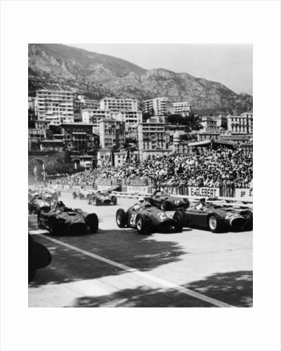 Cars on the starting grid, Monaco, 1950s by Unknown