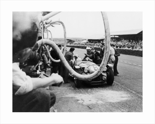 Delahaye 175S in the pits by Anonymous