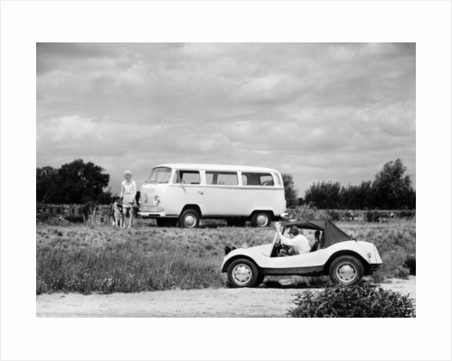 1971 VW camper van and Beach Buggy by Anonymous