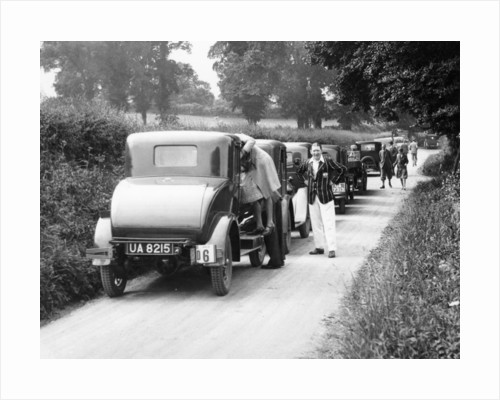 Traffic jam in a country lane by Anonymous