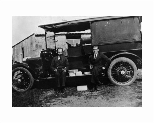 Two men with a Daimler shooting brake by Anonymous