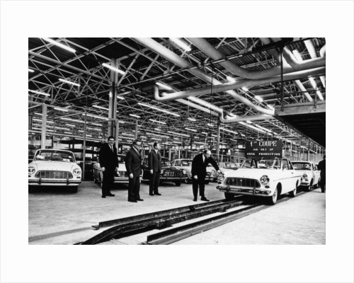 Ford production line, Genk factory, Belgium, early 1960s by Unknown
