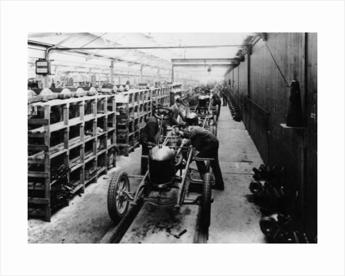 Assembly line of the Morris Bullnose by Anonymous