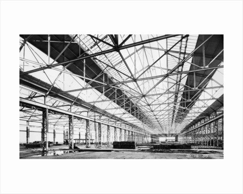 Ford plant during construction by Anonymous