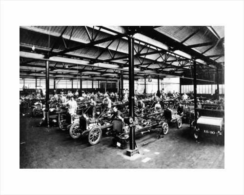 Interior of the Calcott car factory by Anonymous