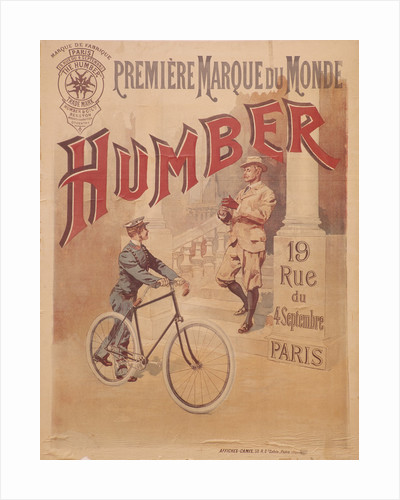 Poster advertising Humber bicycles by Anonymous
