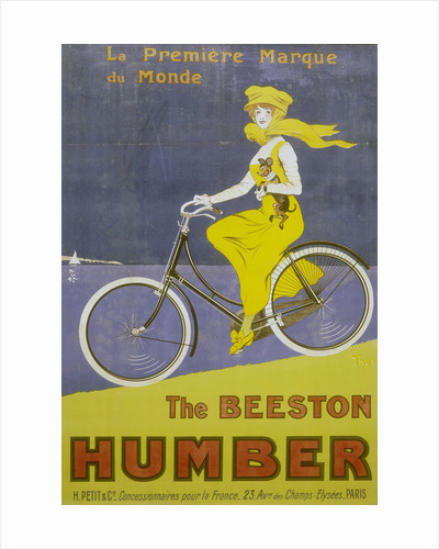 Poster advertising Humber bicycles, late 19th-early 20th century by Unknown