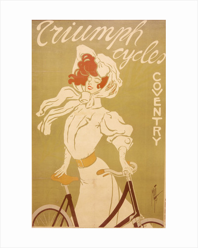 Poster advertising Triumph bicycles by Misti