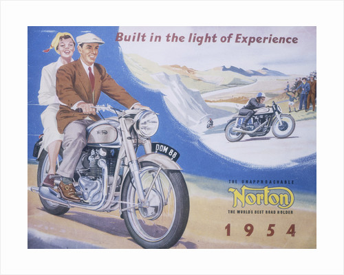 Poster advertising Norton motor bikes by Anonymous