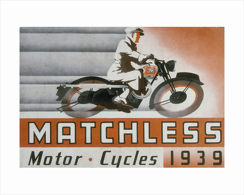 Poster advertising Matchless motor bikes by Anonymous