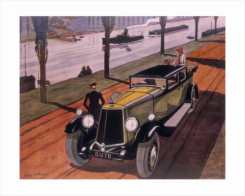 Poster advertising Armstrong Siddeley cars by Guy Sabran