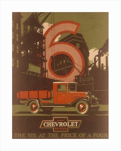 Poster advertising Chevrolet trucks by Anonymous