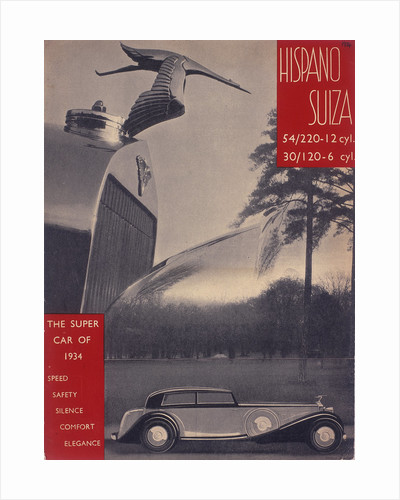 Poster advertising Hispano-Suiza cars by Anonymous