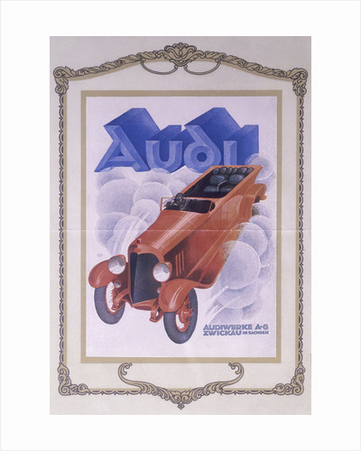 Poster advertising Audi cars by Anonymous