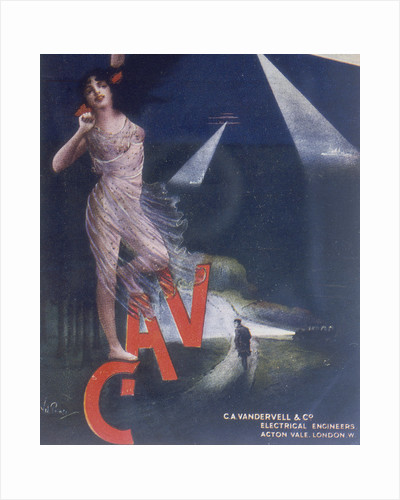 Poster advertising Vandervell by Anonymous