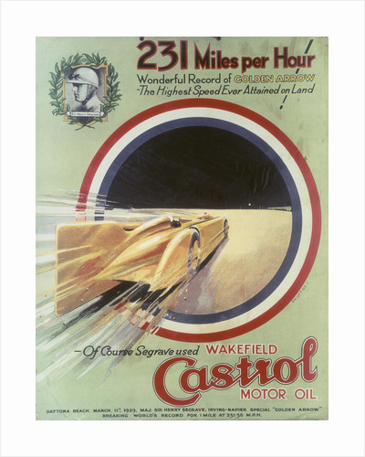 Poster advertising Castrol motor oil by Anonymous