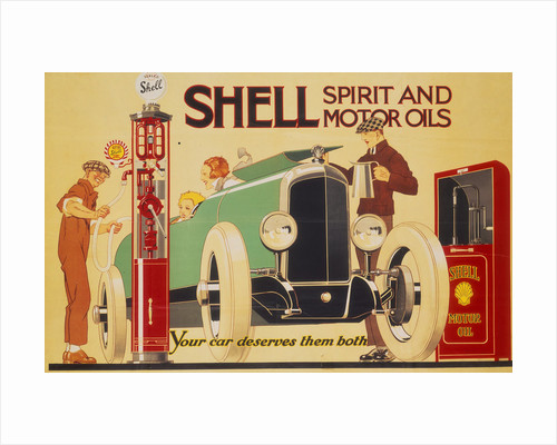 Poster advertising Shell spirit and motor oils by Rene Vincent