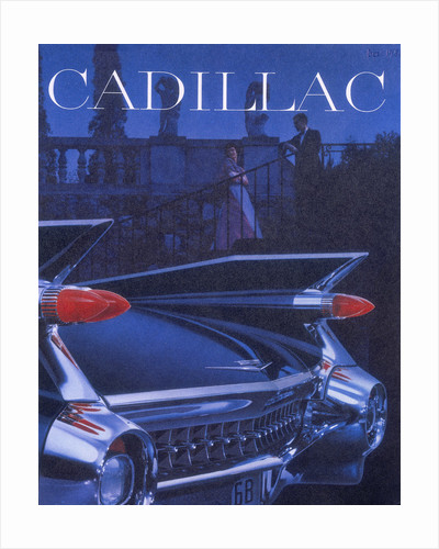 Poster advertising a Cadillac by Anonymous