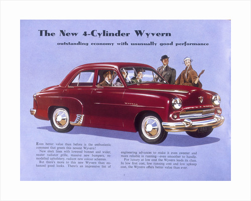 Poster advertising a Vauxhall Wyvern by Anonymous