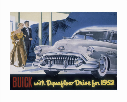 Poster advertising a Buick by Anonymous