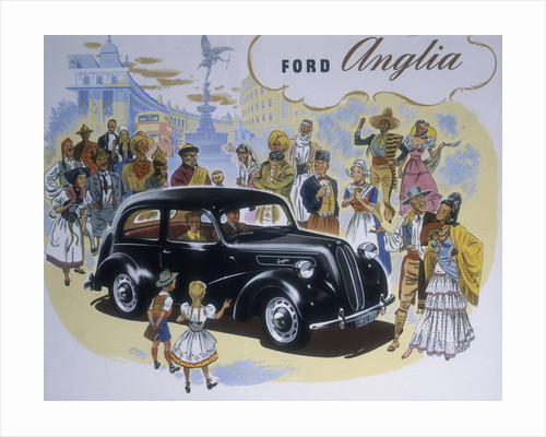 Poster advertising the Ford Anglia car by Anonymous