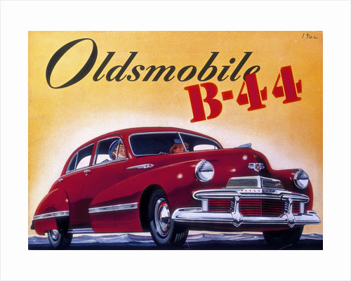Poster advertising an Oldsmobile B44 by Anonymous