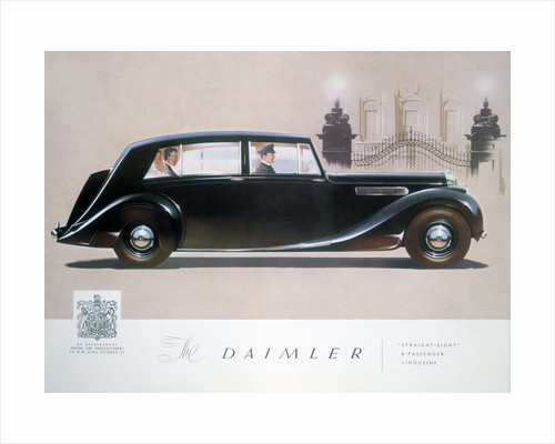 Poster advertising the Daimler Straight 8 limousine by Anonymous
