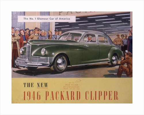 Poster advertising a Packard Clipper by Anonymous