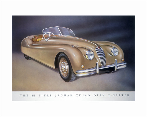 Poster advertising a Jaguar XK 140 by Anonymous