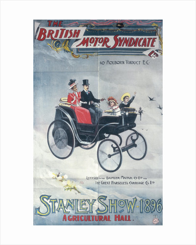 Poster advertising the British Motor Syndicate Stanley Show by Anonymous