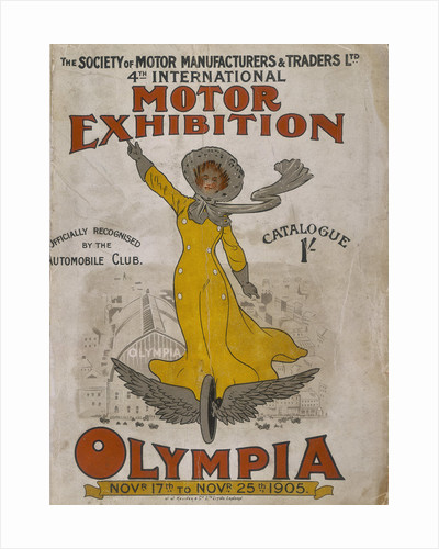 Poster advertising the Olympia Motor Exhibition by Anonymous