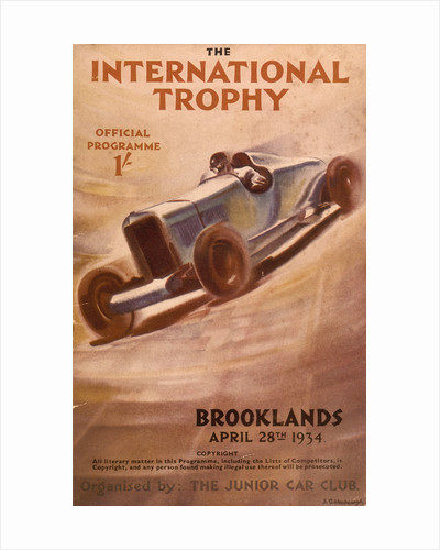 Programme for the Brooklands International Trophy by Anonymous