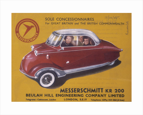 Poster advertising a Messerschmidt KR 200 by Anonymous