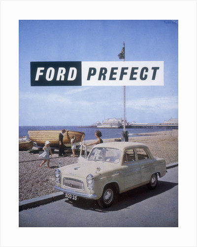Poster advertising a Ford Prefect car by Anonymous