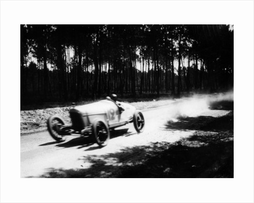 Jimmy Murphy driving a Duesenberg to victory in the French Grand Prix by Anonymous
