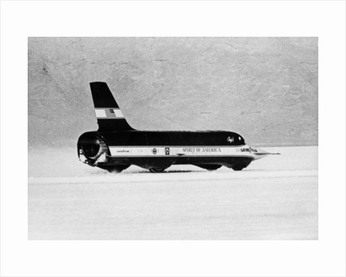 'Spirit of America Sonic I' breaking the Land Speed Record by Anonymous