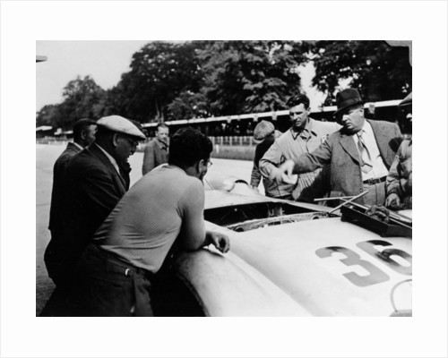 Alfred Neubauer with a Mercedes, Avus motor racing circuit by Anonymous