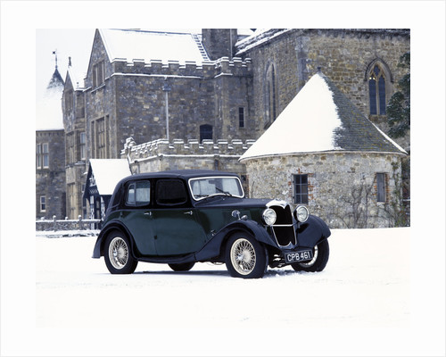 A 1934 Riley Falcon in the snow by Unknown