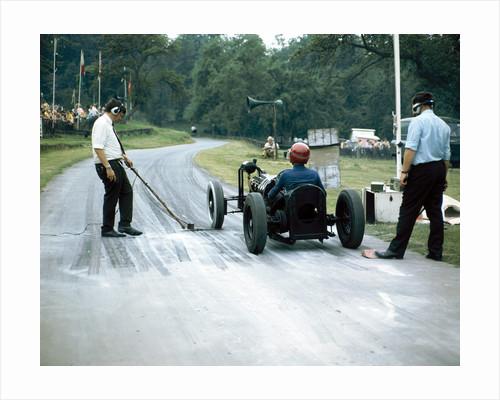 A veteran car at Prescott race track by Anonymous