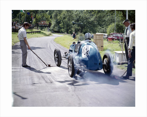 A vintage car at Prescott race track by Anonymous