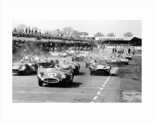Scene at the start of a sports car race, Silverstone, Northamptonshire, (late 1950s?) by Maxwell Boyd