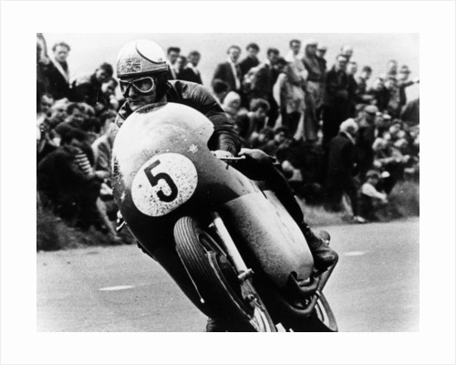 Mike Hailwood, on an MV Agusta, winner of the Isle of Man Senior TT, 1964 by Unknown
