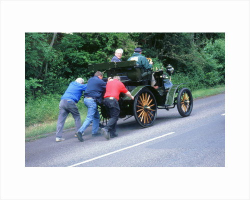 1899 Daimler broken down on a rally by Unknown