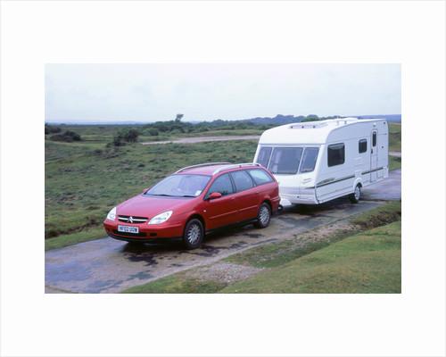 2002 Citroen C5 estate towing caravan by Unknown