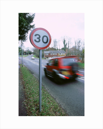 30 mph speed limit sign by Unknown