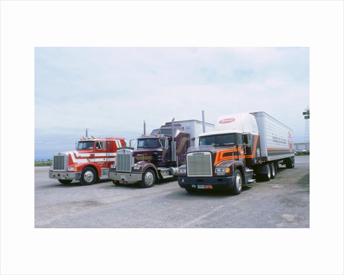 American Trucks at Truckstop in USA by Unknown
