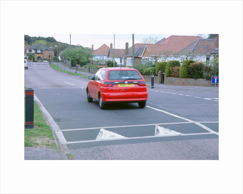 Traffic calming speed hump by Unknown