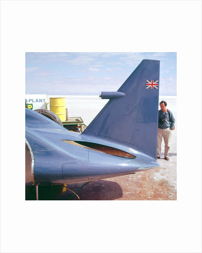 Donald Campbell examines Bluebird, Lake Eyre, Australia, 1960s by Unknown